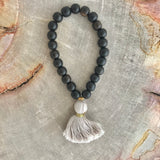 Dark Wood Tassel Bracelet