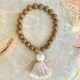 Medium Wood Tassel Bracelet (More Colors)