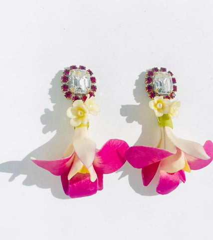 Fuschia Orchid Earrings