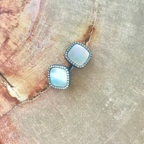 Mother of Pearl Aubra Studs