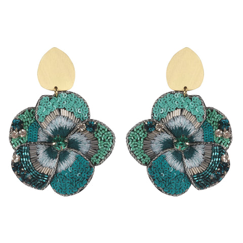 Blue Spring Flower Earrings