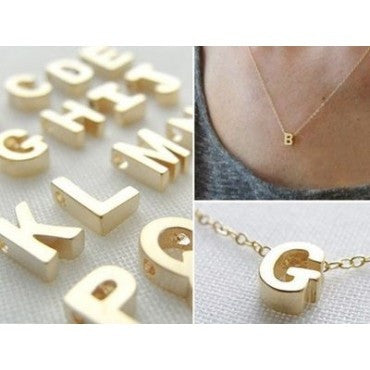 Tiny Upper Case Initial Necklace