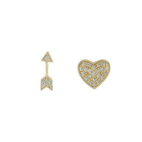 Heart Arrow Studs