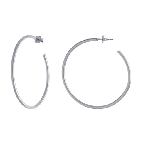 Polished Silver Hoops