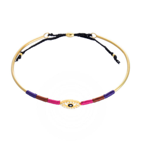 Evil Eye Rainbow Bangle