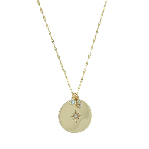 Starburst Disc Necklace