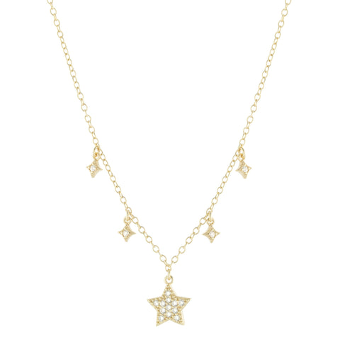 Pave Star Dangle Necklace
