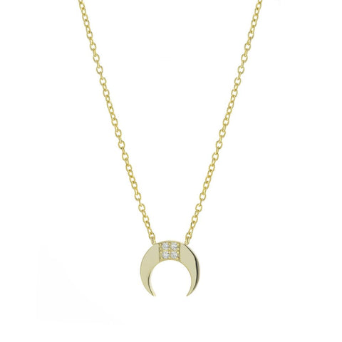 Mini Double Horn Necklace