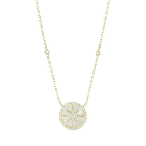 Mother of Pearl Starburst Necklace