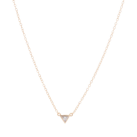 Tiny Triangle Pendant Necklace