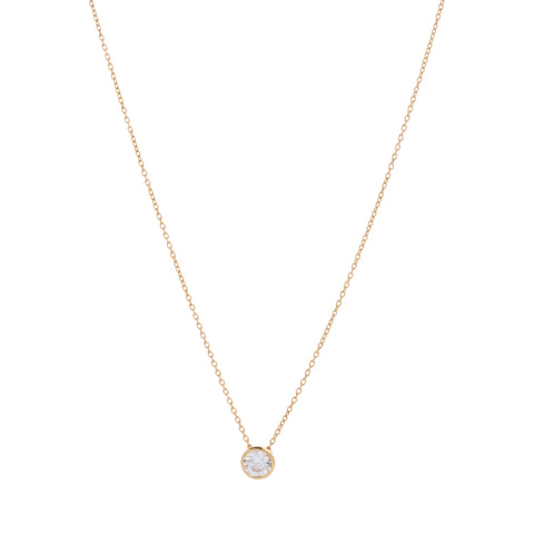 Bezel CZ Diamond Necklace