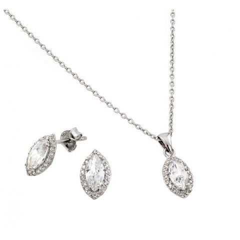 Marquise Necklace + Earring Set