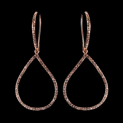 Fancy Accented Teardrop Earrings (More Metals)