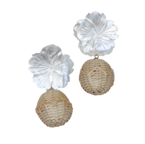 Flower Rattan Earrings