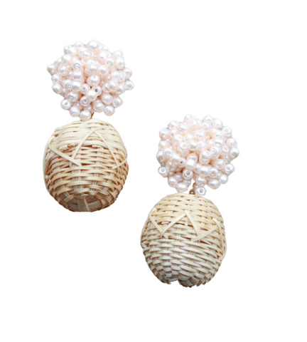 Bonita Rattan Earrings