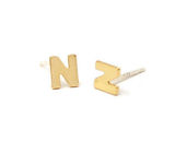 Kris Nations Initial Stud Earrings (More Metals)