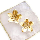Large Gold Flower Earrings (More Colors)