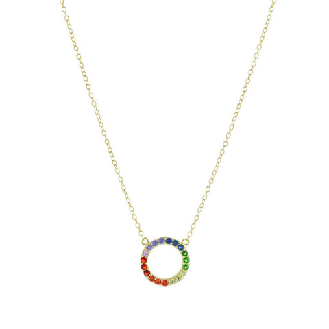 Rainbow Circle Necklace