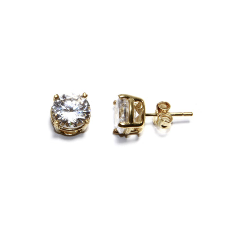 8mm prong set studs