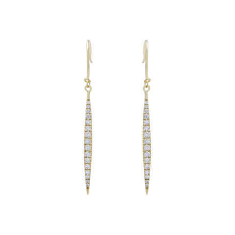Pave Marquise Stick Earrings