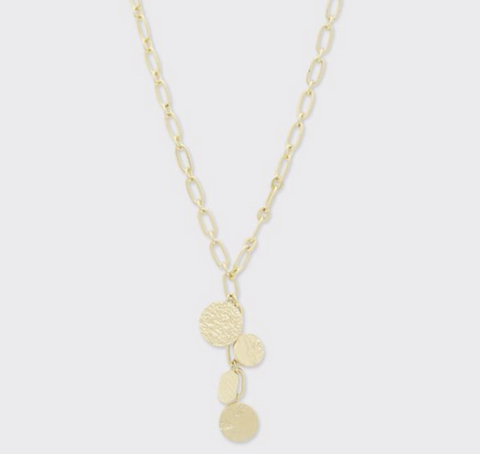 Banks Coin Lariat Necklace