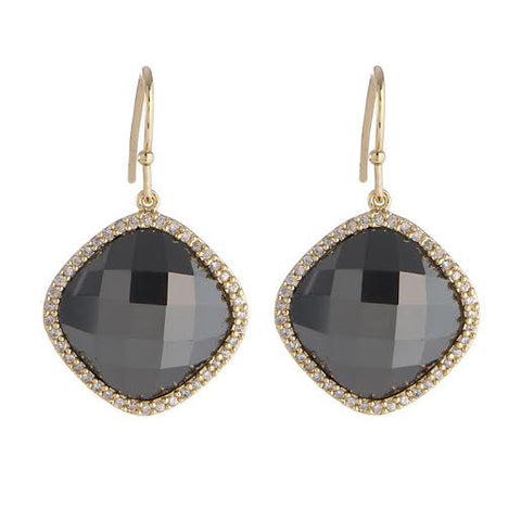 Pyrite Pave Earrings