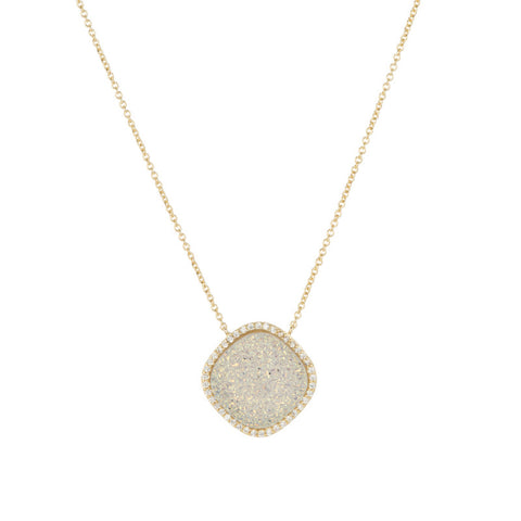 Justine Necklace - White Druzy