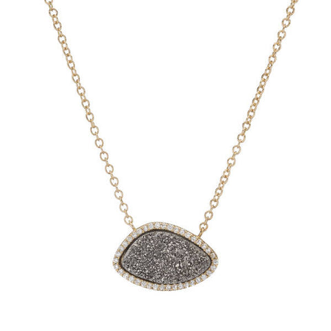 Titanium Druzy Santa Barbara Necklace (More Metals)