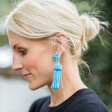Lisi Tassel Earrings - Turquoise