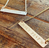 Latitude Longitude Bar Necklace