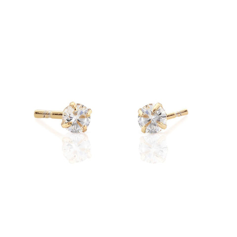 Tiny Crystal Stud Earrings