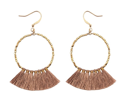 Amber Tassel Earrings (More Colors)
