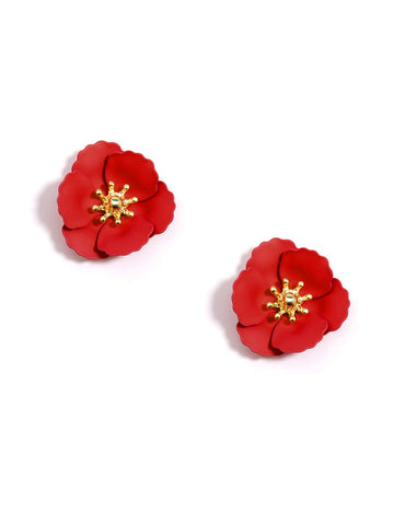 Poppy Flower Studs (More Colors)