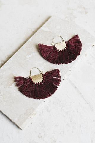 Joya Fringe Hoops (More Colors)