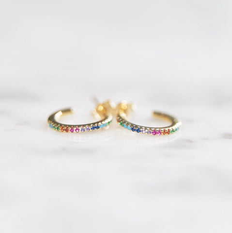 Tiny Rainbow Hoops