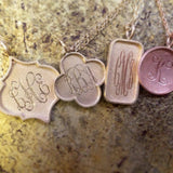 14kt Gold Crest Monogram Necklace