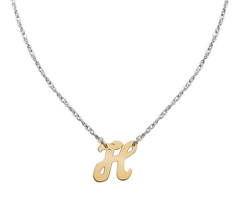 14kt Gold Script Initial Necklace