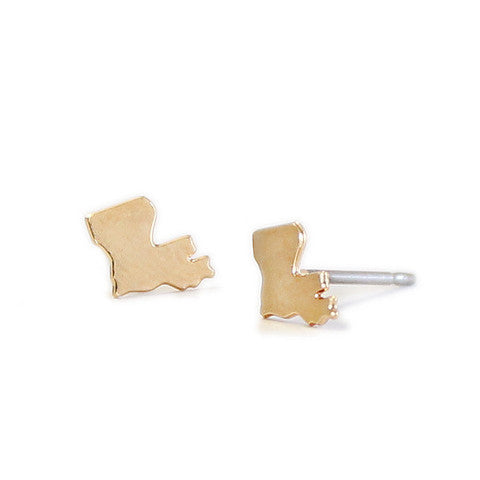 Tiny Louisiana Stud Earrings