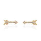 Pave Arrow Studs