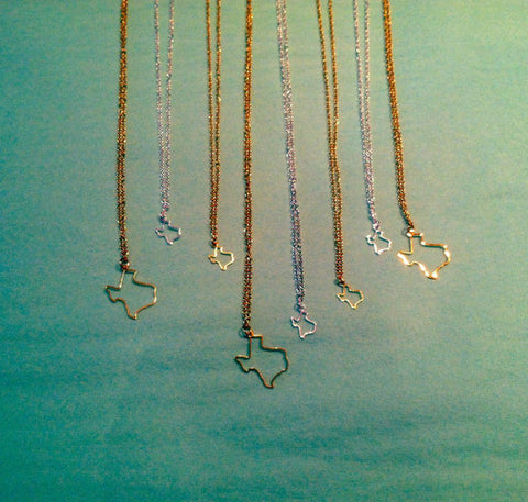 Texas Outline Necklace (More Sizes)