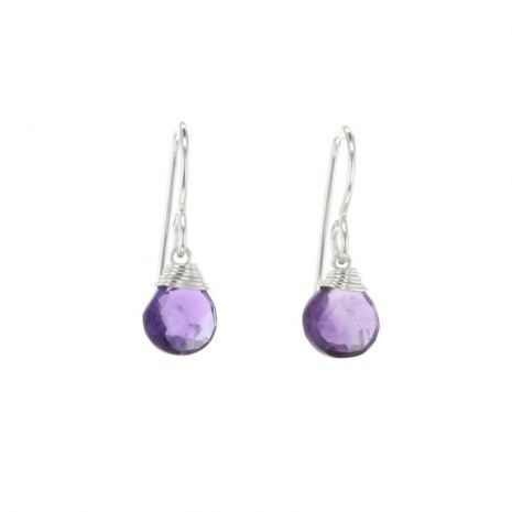 Silver Petal Drop Earrings (More Colors)