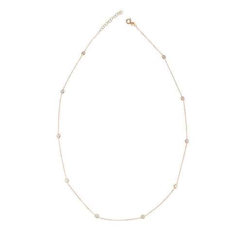 Short Mimosa Diamond By Yard Necklace