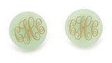 Acrylic Monogram Stud Earrings