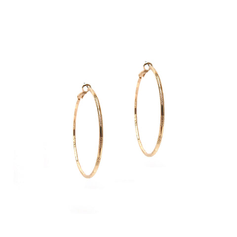 Small Etched Hoops (More Metals)