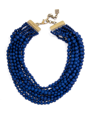 Marly Matte Beaded Bib Necklace