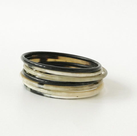 Natural Horn Bangle Set