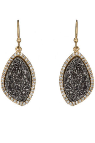 Emmaline Druzy Earrings (More Metals)