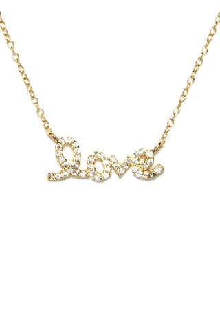 Accented Love Necklace (More Metal Options)