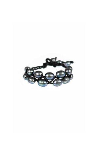 Leather + Pearl Bracelet (More Colors)