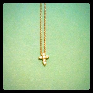 Tiny Bella Cross Necklace